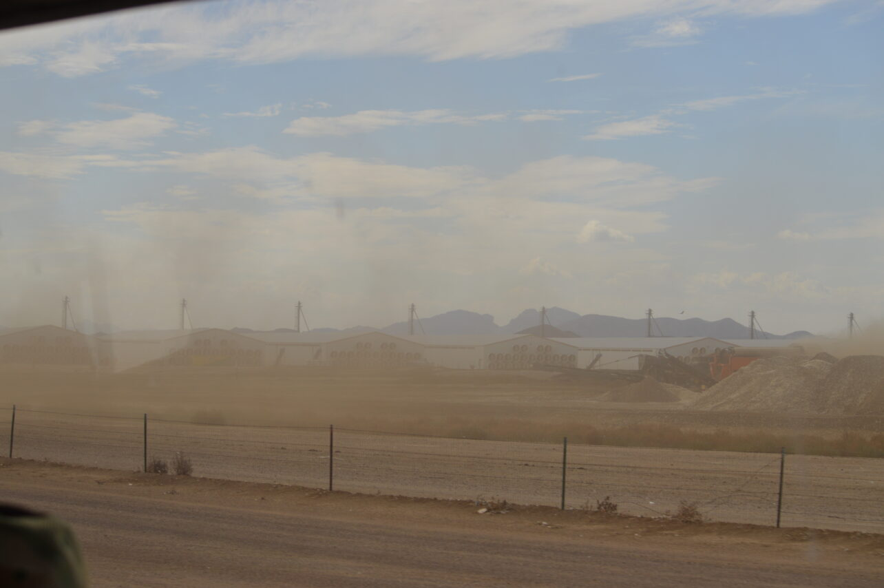 Dust from CAFO